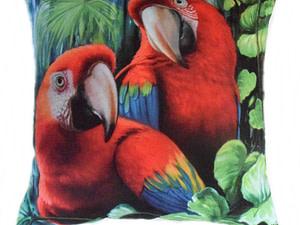 Almofadas decorativas - Araras vermelhas